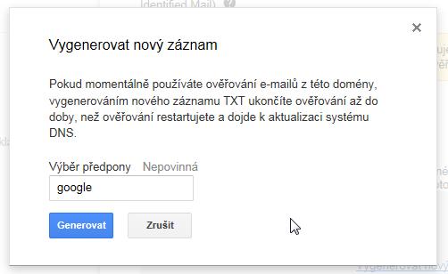 Google Apps DKIM Selector